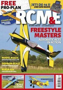 RCME RADIO CONTROLLED MODELS & ELECTRONICS Magazine April 2021 inc FREE PLAN