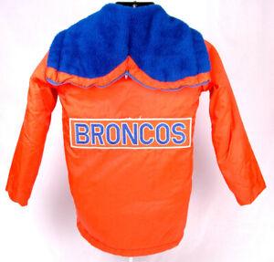 Denver Broncos Winter Coat-Orange-Boys 14-NFL-Chest/Back Patch-Zip Hood-Sears