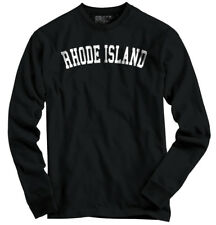 Rhode Island Athletic Student Gym Souvenir  Long Sleeve Tshirt Tee for Adults