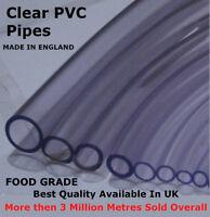 """8mm 5/16"""" 2 MTR CLEAR PVC FLEXIBLE AQUARIUM AIR WATER HOSE PIPE POND TUBING TUBE"""