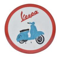 12cm x 12cm  FREE POSTAGE Logo LAMBRETTA SCOOTER Painted Cast Iron Wall Sign