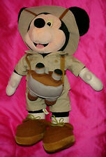 "New listing � Disney Parks Safari Mickey Mouse 24"" Plush Figure Doll Toy"