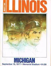 Illinois Football Program - vs. Michigan, September 10, 1977