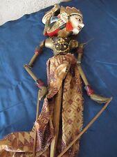 Marionnette 2 Wayang Golek - Java Indonésie - Gatot Kaca - Batik authentique