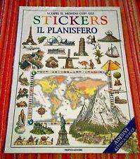 STICKERS Il Planisfero Adesivi Attacca-Stacca 1°ediz. MONDADORI 1997