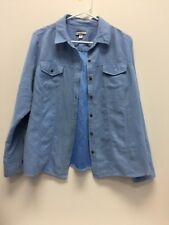 Croft&Barrow Women's Blue Long Sleeved Jacket Size Large Button Front KK12