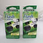 2 Pack Fujifilm 400 Quicksnap Smart Flash 35mm Single Use Film Camera - 27 Pics