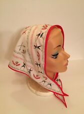 Vintage Headband With Attached Scarf Sparring Partners Fencing Red & White Crest