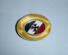 GERMAN - Patriotic Brooch, with Enamelled Flag, & Mini Iron Cross.