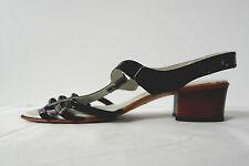 made in italy Damen Sandalette Lackleder TRUE VINTAGE Sandalen Badeschuhe Schuhe