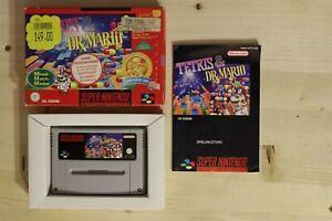 Tetris & Dr. Mario NOE OVP/CIB boxed Super Nintendo SNES