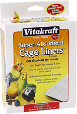 """New listing Vitakraft 512071 7-Pack Super Absorbent Cage Liners for Birds 20"""" X 18"""""""