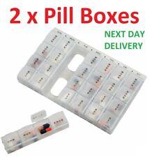 Medicine Pill Box Organiser Daily Weekly Tablet Storage 7 Days Dispenser Week