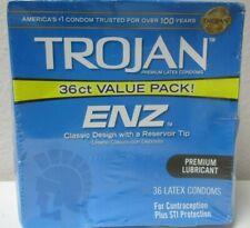 Trojan ENZ Premium Lubricated - 36 Latex Condoms