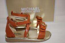 NIB MICHAEL KORS Size 10 Toddler Girl's Cognac LIL SANDRA Ankle Strap Sandal