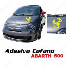 Adhésif Coffre Logo Abarth Scorpion Racing pour Fiat Punto 500 Jaune