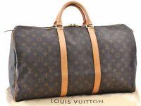 Authentic Louis Vuitton Monogram Keepall 50 Boston Bag M41426 LV A7631