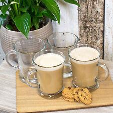 Set di 4 Ravenhead Latte Macchiato in Vetro Trasparente Tazze Tè CAFFè CAPPUCCINO TAZZE Bevande Calde
