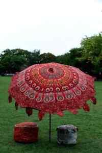 Rajasthani Mandala Garden Umbrellas Outdoor Patios Indian Large Umbrella Parasol