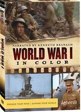 World War 1 In Colour. Superb Doco w/Kenneth Branagh. 3 DVD Set. New In Shrink!