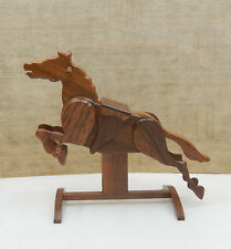 Vintage Wooden Hobby Horse Toy Clark Jensen Artisan Dollhouse Miniature 1:12
