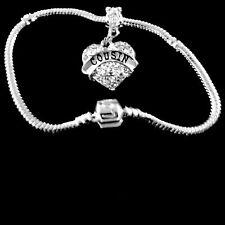 Cousin bracelet cousin Crystal Heart charm bracelet Cousin jewelry gift