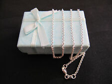 """Necklace """" ROLO """" 925 Sterling Silver Chain 70cm x 2mm Beautiful Gift Idea NEW"""
