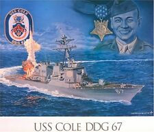 USS COLE DDG-67  HAT LAPEL PIN UP MADE IN US NAVY GUIDED MISSILE DESTROYER GIFT