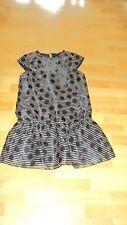 NEXT Girl's Black & Beige Cap Sleeve Party Dress - UK 12