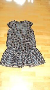 NEXT Girl's Black & Beige Cap Sleeve Party Dress - Age 12