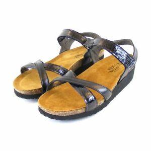 Naot Damen Schuhe Sandaletten Karenna Leder schwarz 10228 Wechselfußbett
