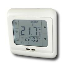 Digital radio thermostat écran tactile aluminium noir #788