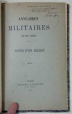 Annuaires militaires au XVIIIe notes d'un soldat EAS Honoré Champion et Courtot