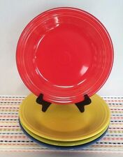 Fiestaware Dinner Plates Fiesta LOT of 4 Multi Color Brights 10.5 inch Plates