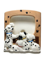 Vintage Walt Disney Ceramic TV Picture Frame 101 DALMATIANS Pups