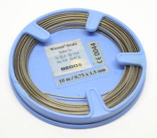 Bego Wironit-edelstahldraht Halbrund 10m Wironitdraht 0 75 X 1 5mm