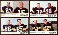 1968 KDKA Pittsburgh Steelers Football Card Near Complete Set 12 of 15 NM Rare