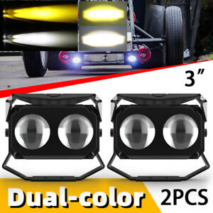 """3"""" inch Cree LED Work Light Cube Pods Driving 240W Combo OffRoad Bumper SUV ATV"""
