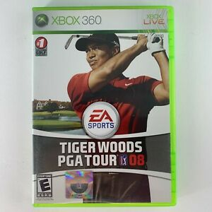 Tiger Woods PGA Tour 08 (Microsoft Xbox 360, 2007) with manual