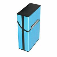 Blue Pocket Aluminum Metal Cigarette Storage Cigar Box BEST Top Case G1V0