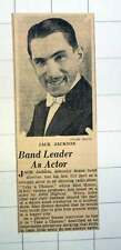 1939 Band Leader Jack Jackson First Acting Part Take A Chance