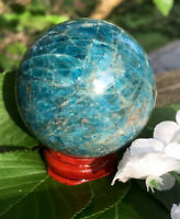 246.8g POLISHED BLUE/GREEN APATITE MINERAL CRYSTAL HEALING SPHERE Reiki  NORWAY