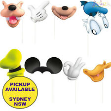 MICKEY MOUSE BIRTHDAY PARTY SUPPLIES 8 PHOTO BOOTH PROP KIT FOR SCENE SETTER