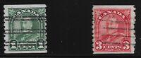 Canada Scott #179 & 183, Singles 1930-31 FVF Used
