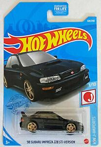 2021 Hot Wheels '98 Subaru Impreza 22B STi-Version J-Imports2021 Midnight Blue