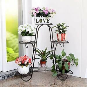Metall Blumentreppe Blumenständer Pflanzenständer Garten Regal Blumenregals