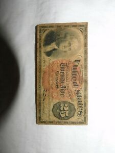 1869-1875 UNITED STATES 25 CENT FRACTIONAL NOTE > FREE SHIPPING