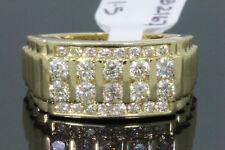 10K YELLOW GOLD 1.50 CARAT MENS REAL DIAMOND ENGAGEMENT WEDDING PINKY RING BAND