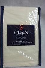 Chaps Damask Solid King Pillowcases 500 TC 100% PIMA Cotton Ivory New