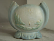 """Weller Scenic Vase, 7"""" tall. Decorated, Mint Condition"""